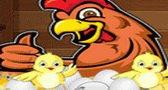 العاب الدجاج و الصوص مسلية Carefull hatching