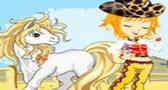 العاب اطفال لعبة تلبيس البنت و حصانها الجميل